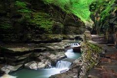 Szenische Wasserfälle Stockfotografie