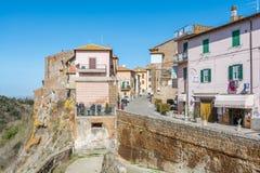 Szenischer Anblick in Blera, mittelalterliches Dorf in Viterbo-Provinz, Lazio, Mittel-Italien Lizenzfreies Stockbild