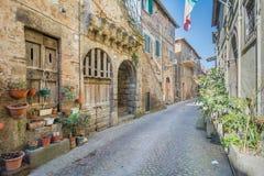 Szenischer Anblick in Blera, mittelalterliches Dorf in Viterbo-Provinz, Lazio, Mittel-Italien Lizenzfreie Stockbilder