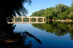 Szenischer Aquädukt in Maryland, USA Lizenzfreies Stockfoto