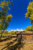Szenischer Autumn Landscape im Tetons Stockfotos