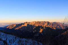 Szenischer Berglandschaftsschuß Koreas an Nationalpark Berg Seoraksan Lizenzfreies Stockfoto