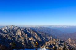 Szenischer Berglandschaftsschuß Koreas an Nationalpark Berg Seoraksan Lizenzfreie Stockfotografie