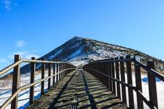 Szenischer Berglandschaftsschuß Koreas an Nationalpark Berg Seoraksan Lizenzfreies Stockbild