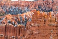 Szenischer Bryce Canyon Winter Landscape Stockfotos