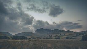 Szenischer Gebirgszug in Nationalpark Snowdonia in Nord-Wales Lizenzfreies Stockfoto