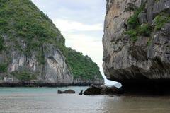 Szenischer ha-langer Schacht, Vietnam Stockfotografie