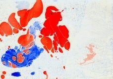 Szenischer Hintergrund von den Stellen und von den Flecken der Ölfarbe Lizenzfreie Stockfotografie
