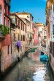 Szenischer Kanal, Venedig, Italien Lizenzfreie Stockfotografie