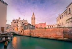 Szenischer Kanal, Venedig, Italien Lizenzfreies Stockfoto