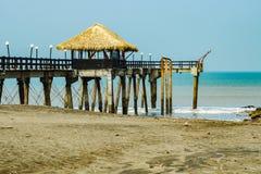 Szenischer Pier in Costa Rica lizenzfreie stockbilder