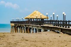 Szenischer Pier in Costa Rica stockbilder