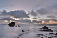 Szenischer Sonnenuntergang Kap Peron Rockingham Sein gelegen auf Wellington-Straße und war im November 2012 geöffnet Stockbilder