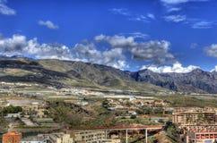 Szenischer Tenerife-Bergabhang Stockfotografie