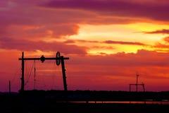 Szenischer und drastischer Sonnenaufgang Stockfotos