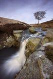 Szenischer Wasserfall im Moorland Lizenzfreie Stockfotografie