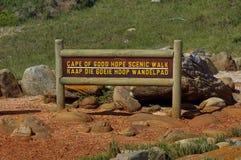 Szenischer Weg an Kap der guten Hoffnung Stockbild