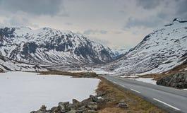 Szenischer Weg 63 in Norwegen Stockbild