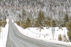 Szenischer Winter-Hintergrund Lake Tahoe stockbilder