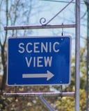 Szenisches Ansicht-Zeichen Lizenzfreies Stockbild