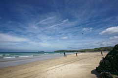 Szenisches Foto der Gwithian-Küstenlinie stockfotos