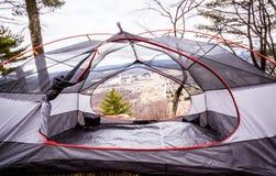 Szenisches Innenansicht-Zelt Stockfoto
