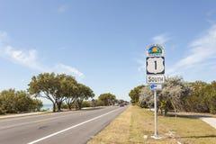 Szenisches Landstraßen-Zeichen Floridas Stockfotos