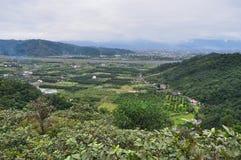 Szenisches Landwirtschaftsgebiet bei Yilan Lizenzfreie Stockfotos