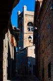 Szenisches Märzlandschaft-montefrabbri Dorf Italien Lizenzfreie Stockbilder