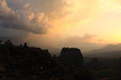Szenisches wiew auf dem Meteora, Griechenland lizenzfreie stockbilder
