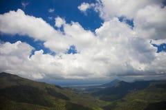 Szenisches wiew von schwarzem Fluss sättigt sich in Mauritius Stockfoto