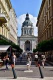 Szent Istvan Bazilika en Zrinyi-ucta stock foto