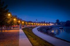 Szentendre Danube bank Zdjęcie Royalty Free