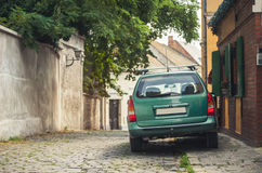 SZENTENDRE, HUNGARY, a green machine at street Stock Photography