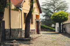 SZENTENDRE, HUNGARY,  house at steet in summer Royalty Free Stock Photos