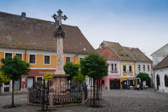 Szentendre Old Town in Hungary. Little charming town with well-preserved houses and churches, many built in a Balkan style Royalty Free Stock Photos