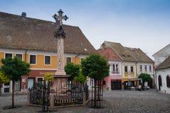 Szentendre Oude Stad in Hongarije Royalty-vrije Stock Foto's