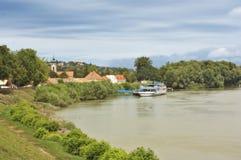 Szentendre port, Ungern Fotografering för Bildbyråer