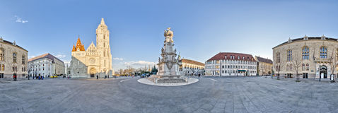 Szentharomsag square in Castle District, Budapest, Hungary Stock Images