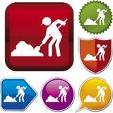 szereg ikony budowy Zdjęcie Royalty Free