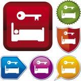szereg ikony zakwaterowania Zdjęcie Royalty Free