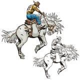 szereg ilustracyjne zachodnie Zdjęcia Royalty Free
