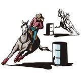 szereg ilustracyjne zachodnie Zdjęcie Royalty Free