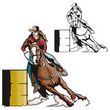szereg ilustracyjne zachodnie Obraz Royalty Free