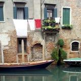 szereg kanałowe Wenecji zdjęcia royalty free