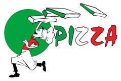 szereg pizz pracę Zdjęcia Stock