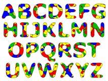 szereg podstawowych alfabet Zdjęcia Royalty Free