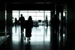 szereg portów lotniczych Fotografia Stock
