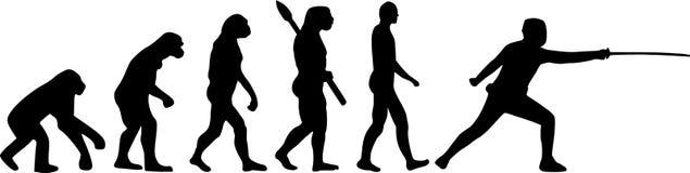 Szermiercza ewolucja ilustracja wektor