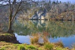 szeroka francuska rzeka obraz stock